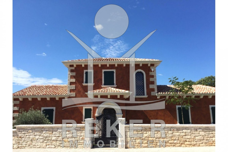 Luxus pool im garten  Luxuriöse Neubau-Villa mit großem Pool in Tinjan