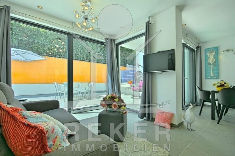 moderne mediterrane einrichtung apartment, das mehrfamilienhaus mit der wohnung, Design ideen