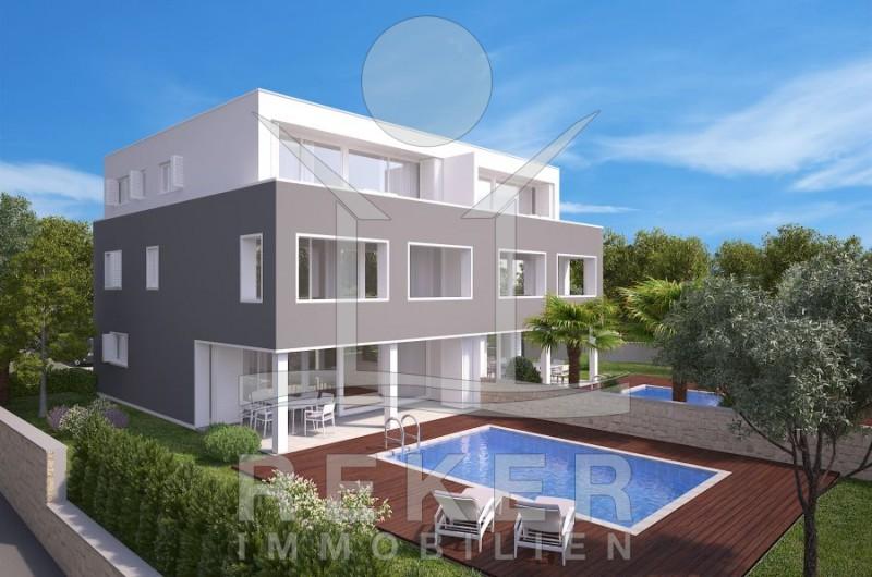 insel krk stadt krk sch ne doppelhaus h lften mit pool. Black Bedroom Furniture Sets. Home Design Ideas