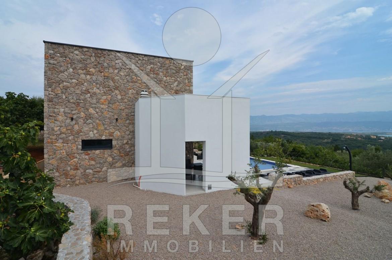 Moderne Sommerküchen : Die schöne moderne villa auf krk