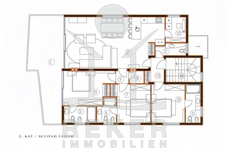 das luxus penthouse mit tollem meerblick. Black Bedroom Furniture Sets. Home Design Ideas