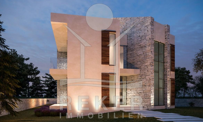 Insel Krk Punat Neubau einer Luxus-Villa direkt am Meer