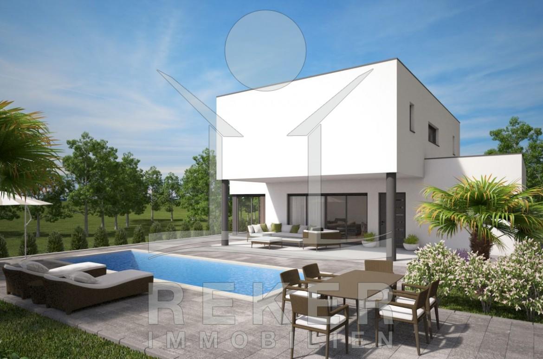 Der Grosse Pool Und Das Herrliche Sonnendeck Laden Zum Verweilen Ein Die Moderne Architektur Villa
