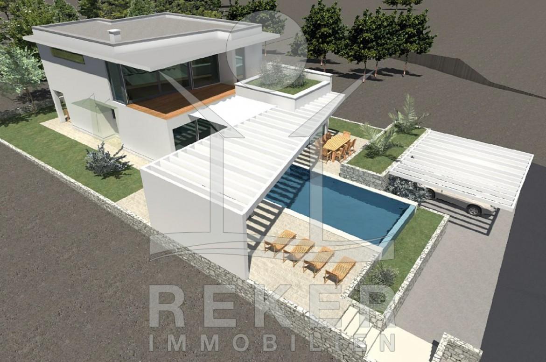 die neue luxus villa auf der insel krk. Black Bedroom Furniture Sets. Home Design Ideas